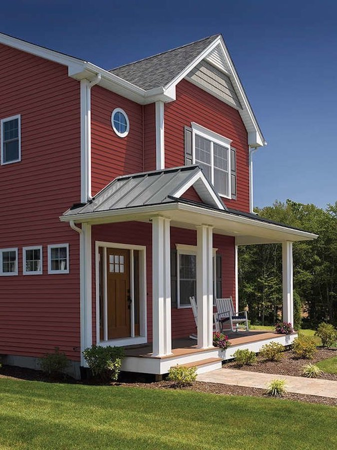 red_vinyl_siding_on_home_gutter_solutions_and_home_improvements_